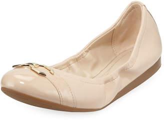 Cole Haan Terrin Leather Ballet Flats, Beige