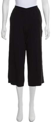 Helmut Lang High-Rise Wide-Leg Cropped Pants