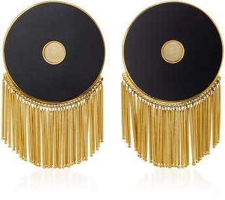 Monica Sordo Lluvia Gold-Plated Onyx Earrings