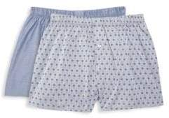 Hanro Fancy Woven 2-Pack Boxers