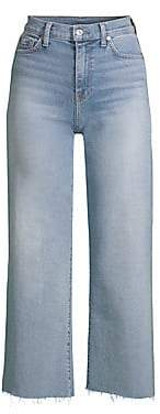 7 For All Mankind Women's Alexa Cropped Wide Leg Jeans
