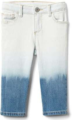 Stretch ombre straight crop jeans $39.95 thestylecure.com