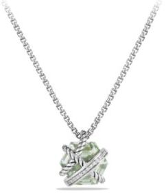 David Yurman Cable Wrap Necklace with Prasiolite and Diamonds $495 thestylecure.com