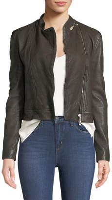 L'Agence Devon Leather Moto Jacket