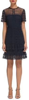 Whistles Indira Lace Ruffled Hem Dress $399 thestylecure.com