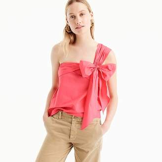 One-shoulder bow top $68 thestylecure.com