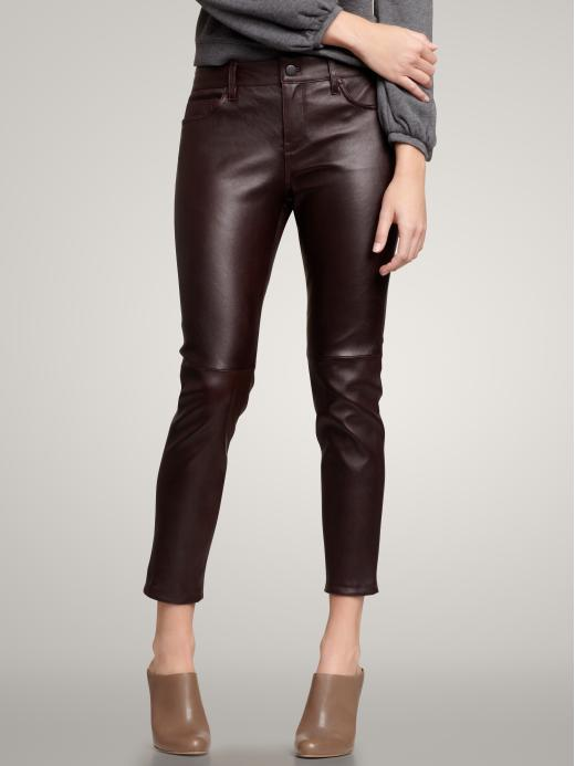 1969 High-Rise Cropped Leather Leggings