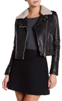 Doma Grain Genuine Dyed Lamb Fur Nappa Jacket $931 thestylecure.com