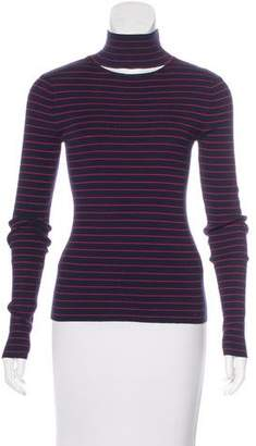 Tanya Taylor Striped Turtle Neck Top