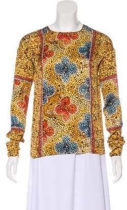 Dolce & Gabbana Mosaic Silk Blouse
