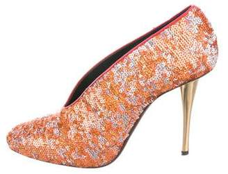 Lanvin Sequined Round-Toe Pumps