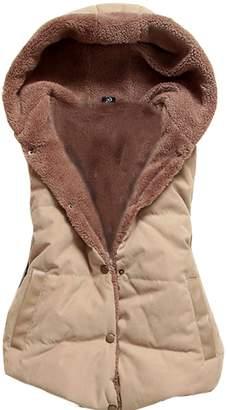 Gaorui Women Girls sleeveless vest jacket quilted hooded jacket Colorful