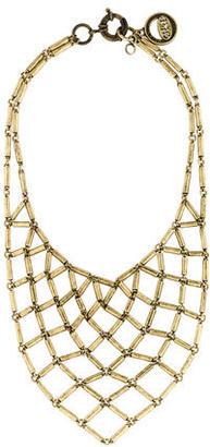 Giles & Brother Chain Mesh Bib Necklace $75 thestylecure.com