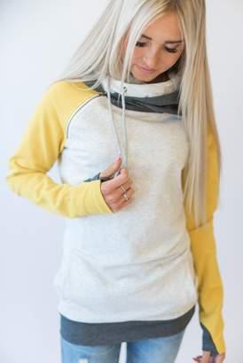 Ampersand Avenue Baseball DoubleHood Sweatshirt - Mustard