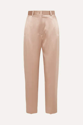 Joseph Electra Silk-satin Tapered Pants - Beige