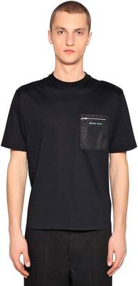 Prada Cotton Jersey T-Shirt W/ Nylon Pocket