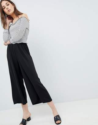 Asos Design DESIGN tailored easy elasticated waist soft culottes