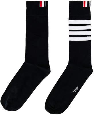 Thom Browne Mid Calf Socks in Navy | FWRD