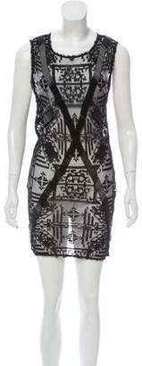 AllSaints Sleeveless Embellished Mini Dress