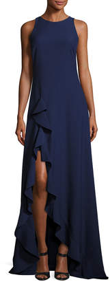 Zac Posen Embellished Lace Halter Gown, Royal