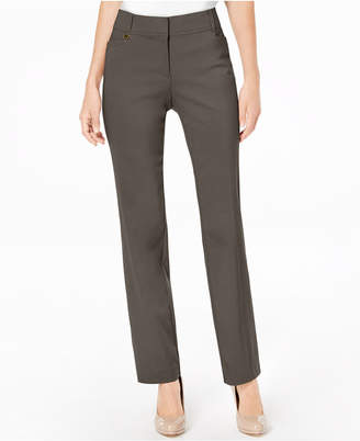 JM Collection Petite Tummy-Control Curvy Fit Slim-Leg Pants