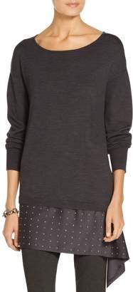 St. John Embellished Asymmetric Sweater