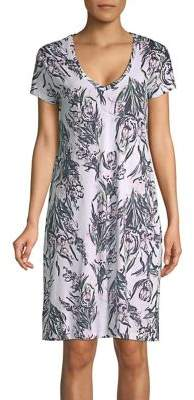 Lord & Taylor Floral V-Neck Cotton Nightshirt