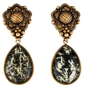 Stephen Dweck Quartz & Agate Doublet Drop Earrings