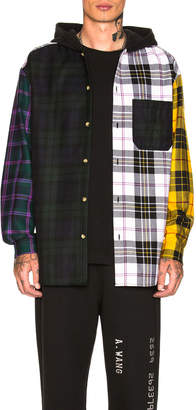 Alexander Wang Plaid Hooded Overshirt