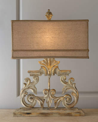 Horchow Golden Harp Table Lamp