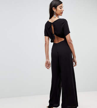 Asos Tall Tea Jumpsuit With Tie Back