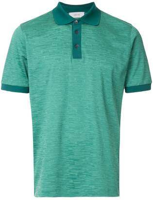 Cerruti jacquard effect polo shirt