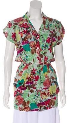 Alice + Olivia Floral Print Silk Tunic