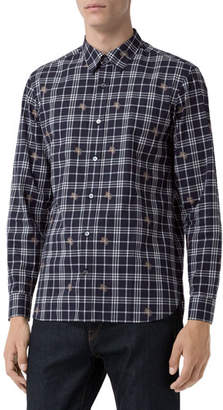 Burberry Men's Edward Check Sport Shirt