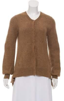 Sacai Alpaca Button-Up Sweater