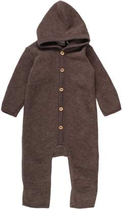 Green Cotton Fred's World By Fred's World by Baby Wool Fleece Suit with Hood Bodysuit