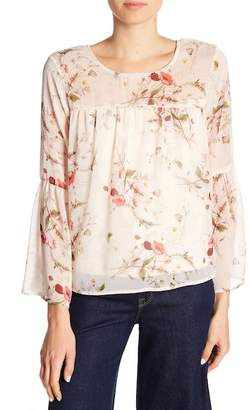Bobeau B Collection by Rayes Floral Print Blouse