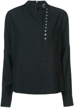 Tibi twill buckle Dolman blouse