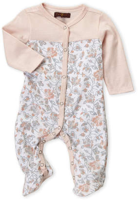 7 For All Mankind Newborn Girls) Floral Long Sleeve Footie