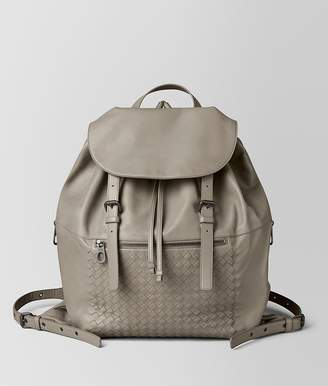 Bottega Veneta Dark Cement Intrecciato Calf Backpack