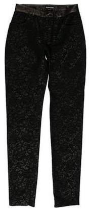 Tom Ford Mid-Rise Lace Jeans