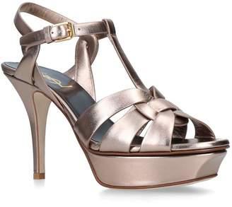05c03a761136 Saint Laurent Metallic Leather Tribute Sandals 75