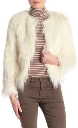 Love Tree Shaggy Faux Fur Jacket