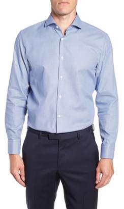 BOSS Sharp Fit Mark Micro Grid Dress Shirt