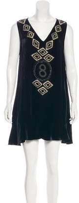 Sass & Bide Embellished Velvet Dress