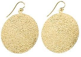 Jennifer Meyer Hammered Disc Earrings - Yellow Gold