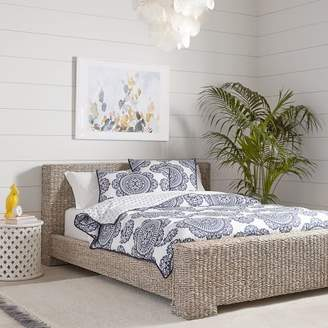 Pottery Barn Teen Isla Seagrass Bed, Queen