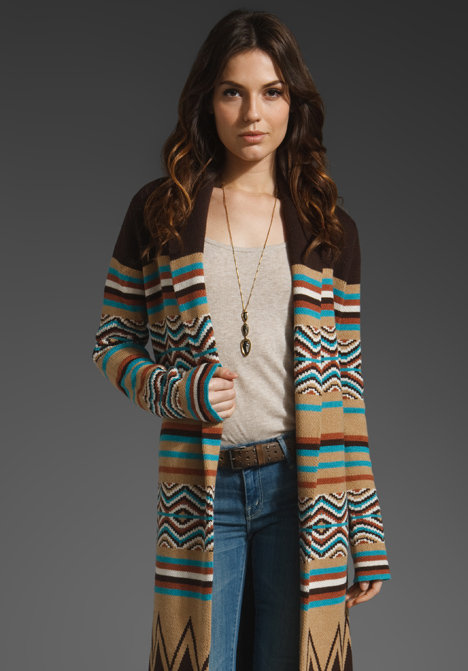 Haute Hippie Long Cardigan with Fringe