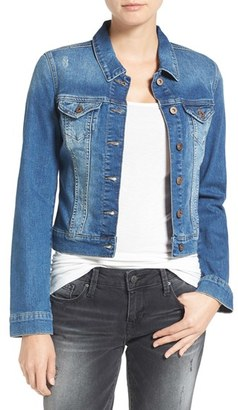 Women's Mavi Jeans Samantha Distressed Denim Jacket $118 thestylecure.com