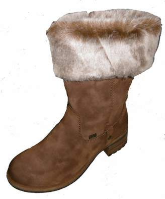 Rieker Women`s Synthetic Boots Brown